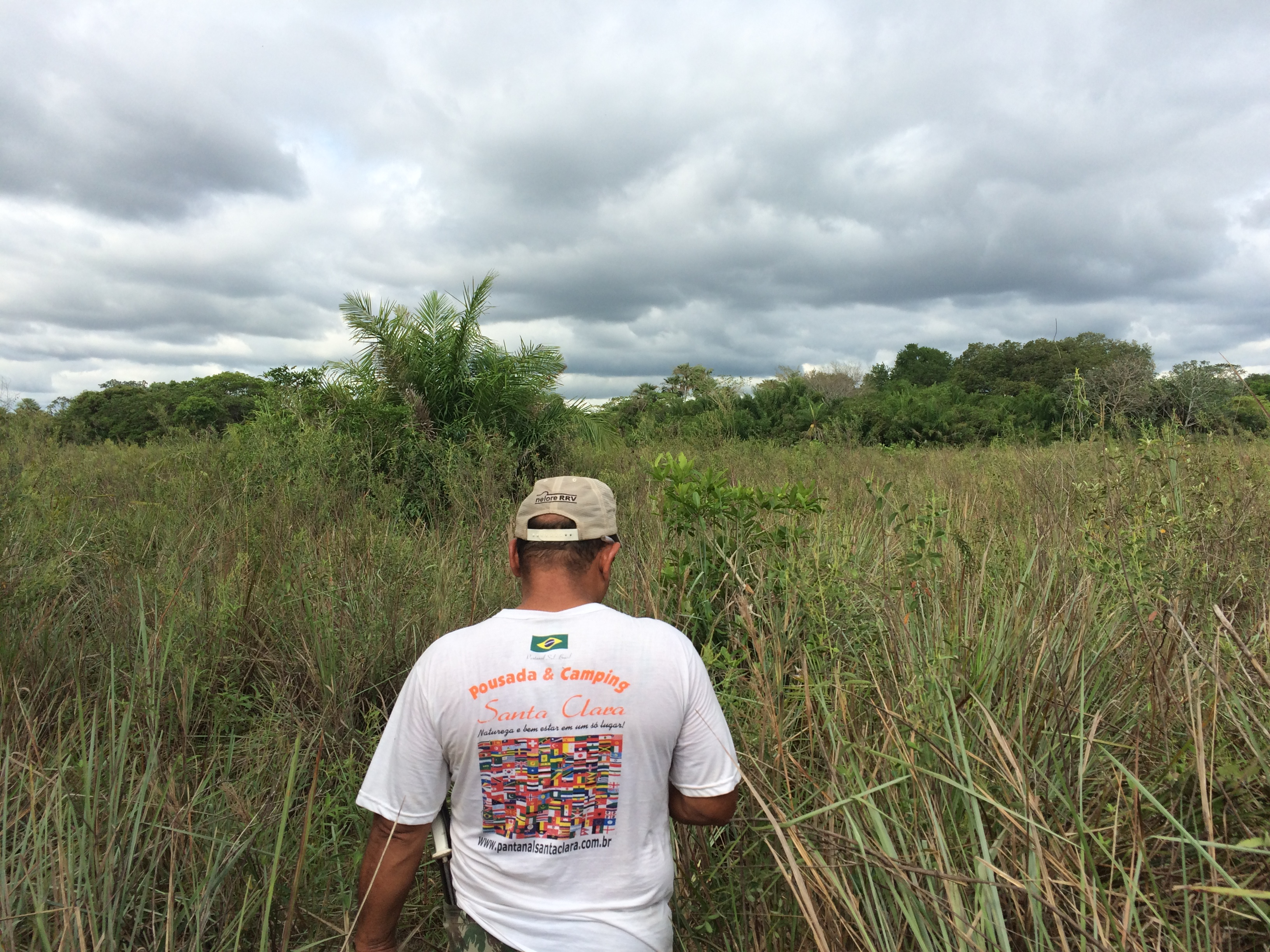 Headed in the bush in the Pantanal with my guide Tony