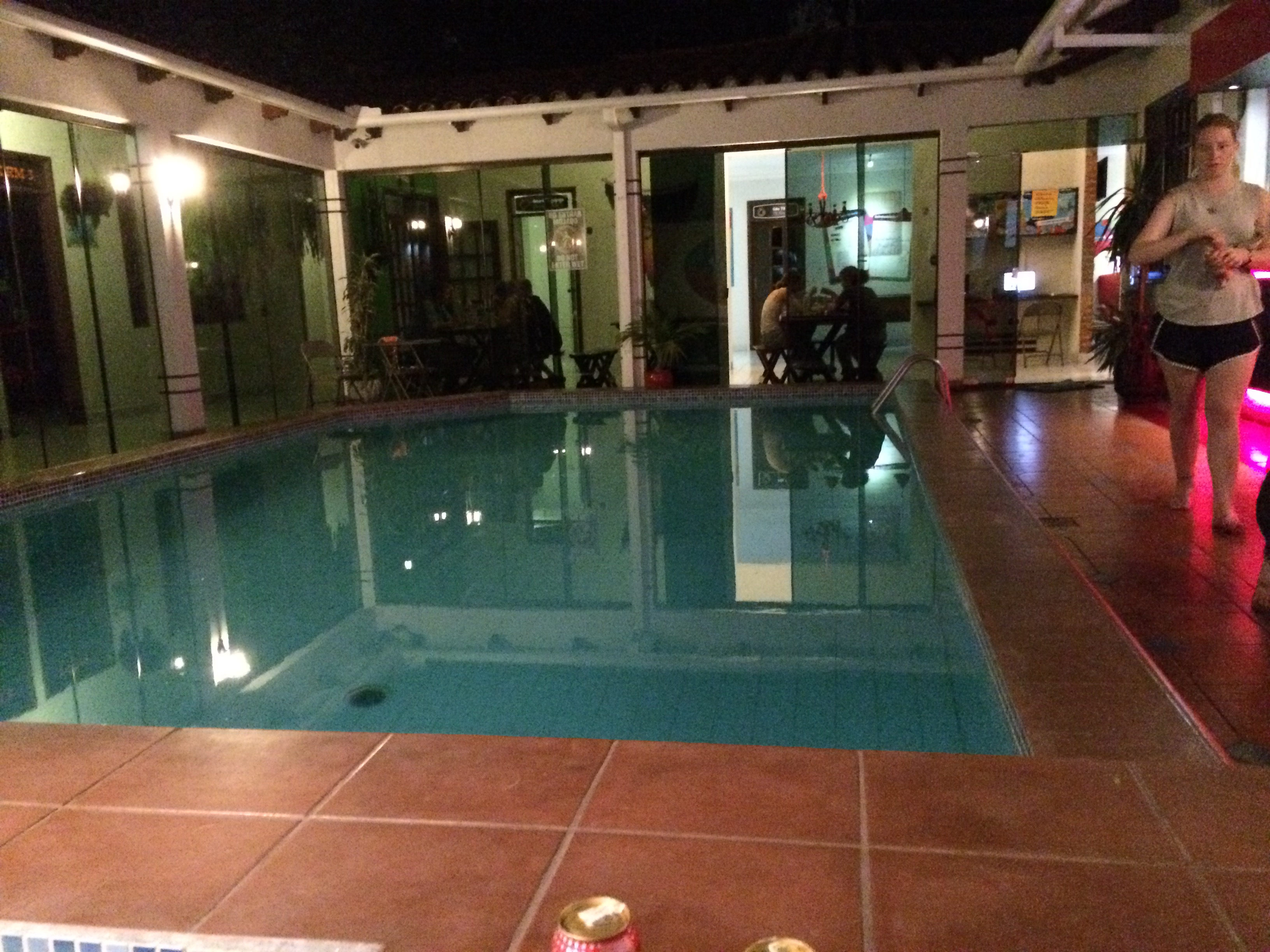 Hostels aren't all bad, this one in Santa Cruz, Bolivia was under $8